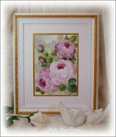 Victorian Rose Framed Painting