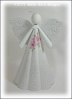 Romantic Rose Christmas Angel