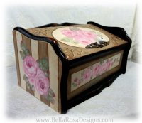Elegant French Roses Bread Box