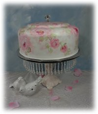 Cake Cover with Pink Roses