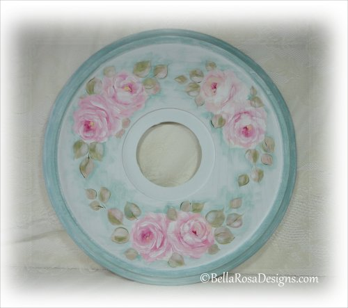 Pink Rose Ceiling Medallion