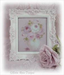 Ornate Framed Rose Print