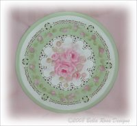 Lovely Reticulated Rose Tray
