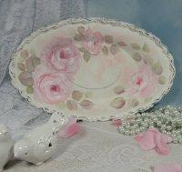Pink Roses Vanity Tray