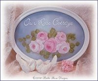 Gorgeous Rose Cottage Sign on Glass