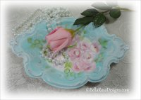 Hand Painted Roses Vanity Tray