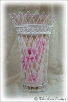 French Wire Basket with Roses