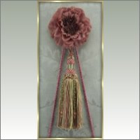 Victorian Picture Hanger in Mauve and Green