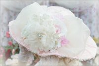 Roses and Pearls Pink Victorian Hat