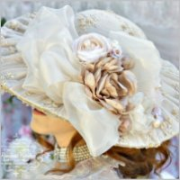 Roses and Pearls Beaded Hat
