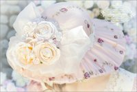 Taupe Victorian Rose Hat