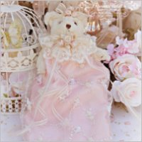 Roses and Pearls Beaded Bear