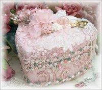 Pink Cherub Keepsake Heart Box