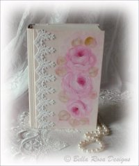 Beautiful Bible with Roses and Lace