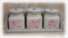 Lovely Canister Set with Rack