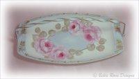 Sweet Pink Roses Vanity Tray-Basket