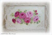 Gorgeous Tray Table with Roses