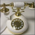 French Porcelain Telephone