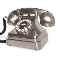 Antique Replica Desk Telephone in Chrome