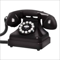 Antique Replica Desk Telephone in Black