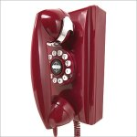 Classic Wall Telephone in Red