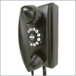 Classic Wall Telephone in Black