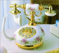 French Porcelain Pink Roses Telephone
