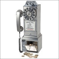 1950's Style Pay Phone in Brushed Chrome