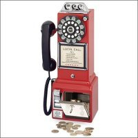 1950's Style Pay Phone in Red