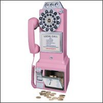 1950's Style Pay Phone in Pink
