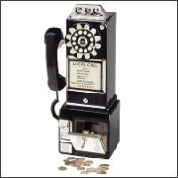 1950's Style Pay Phone in Black