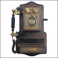 Victorian Style Wooden Wall Telephone